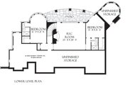 European Style House Plan - 3 Beds 3.5 Baths 3874 Sq/Ft Plan #929-929 Floor Plan - Lower Floor Plan