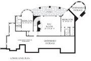 European Style House Plan - 3 Beds 3.5 Baths 3874 Sq/Ft Plan #929-929 Floor Plan - Lower Floor