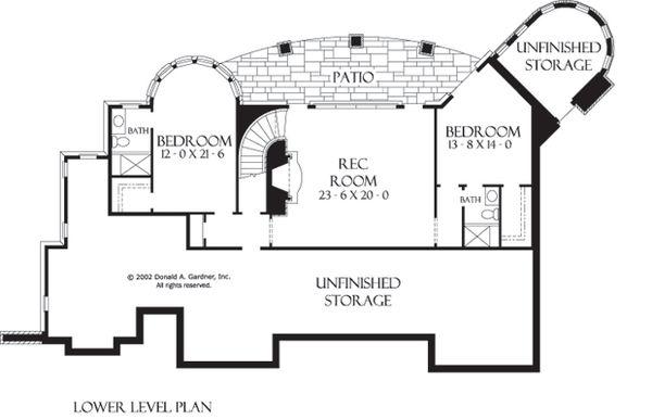European Floor Plan - Lower Floor Plan #929-929