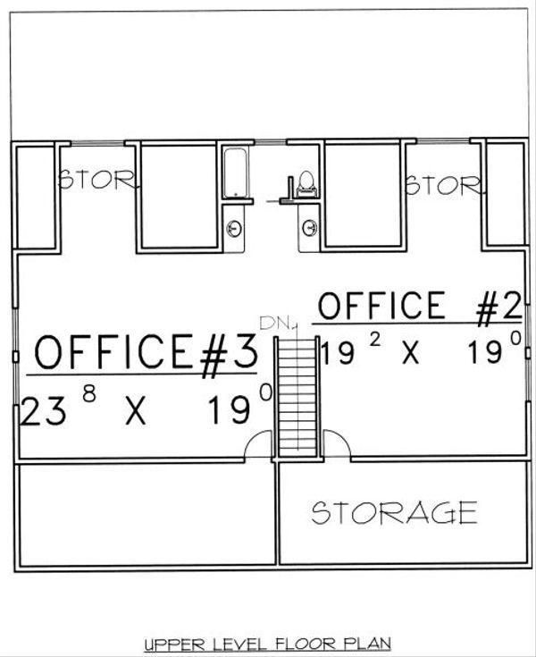 Traditional Floor Plan - Upper Floor Plan Plan #117-566