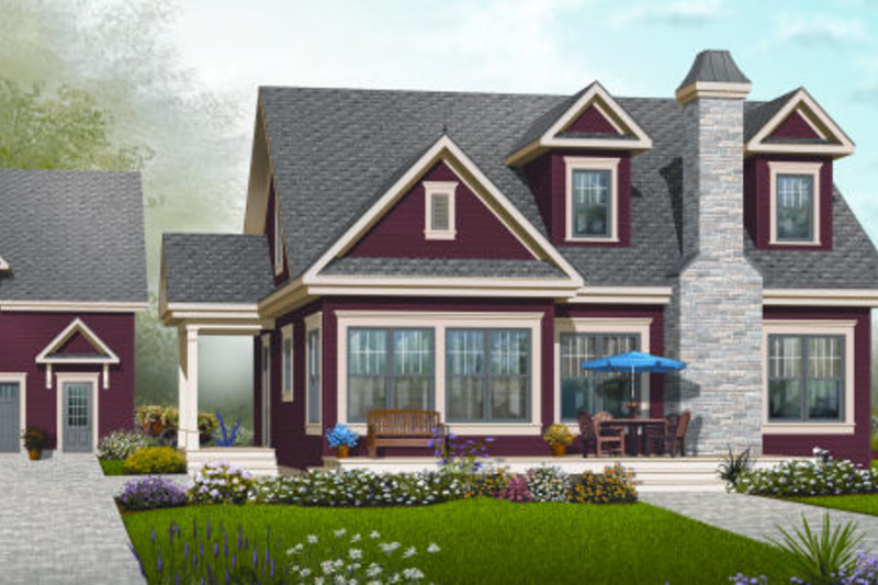 Country Exterior - Front Elevation Plan #23-2241 - Houseplans.com