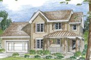 Country Style House Plan - 3 Beds 2.5 Baths 1388 Sq/Ft Plan #312-657 Exterior - Front Elevation