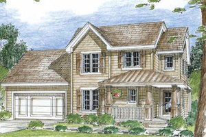 Country Exterior - Front Elevation Plan #312-657