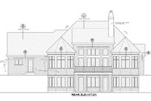 Architectural House Design - Craftsman Exterior - Rear Elevation Plan #20-2454