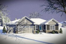 Ranch Exterior - Front Elevation Plan #70-1458