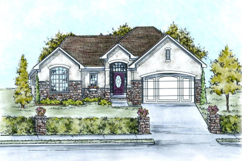 Traditional Exterior - Front Elevation Plan #20-2100 - Houseplans.com