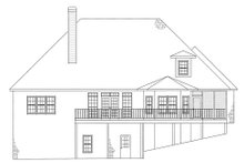 European Exterior - Rear Elevation Plan #437-4