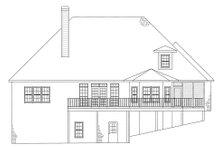 House Design - European Exterior - Rear Elevation Plan #437-4