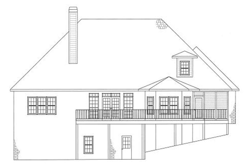 European Exterior - Rear Elevation Plan #437-4 - Houseplans.com
