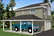 Traditional Style House Plan - 1 Beds 1 Baths 833 Sq/Ft Plan #126-164 Exterior - Other Elevation