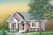 Cottage Style House Plan - 2 Beds 1 Baths 1110 Sq/Ft Plan #25-189 Exterior - Front Elevation