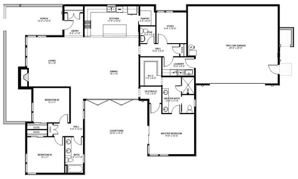 Modern Floor Plan - Main Floor Plan Plan #895-101