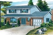Traditional Style House Plan - 4 Beds 2.5 Baths 1796 Sq/Ft Plan #47-441 Exterior - Front Elevation