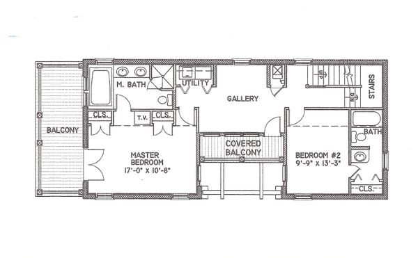 Mediterranean Floor Plan - Upper Floor Plan Plan #536-6