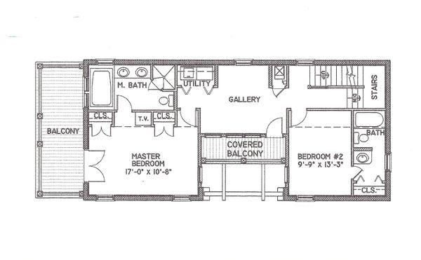 Mediterranean Floor Plan - Upper Floor Plan #536-6