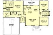 Farmhouse Style House Plan - 3 Beds 2.5 Baths 1599 Sq/Ft Plan #430-246 Floor Plan - Main Floor
