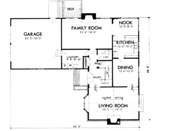 European Floor Plan - Main Floor Plan #320-144