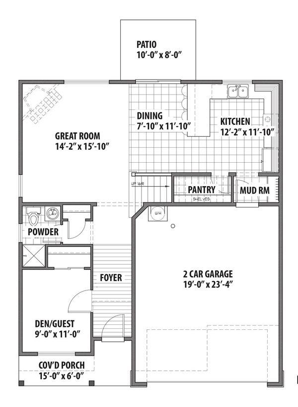Country Floor Plan - Main Floor Plan #569-34