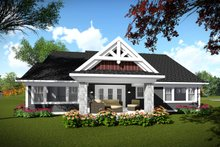 Home Plan - Ranch Exterior - Rear Elevation Plan #70-1464