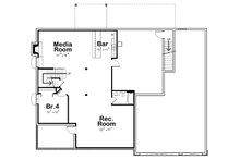 Traditional Floor Plan - Lower Floor Plan Plan #20-2344