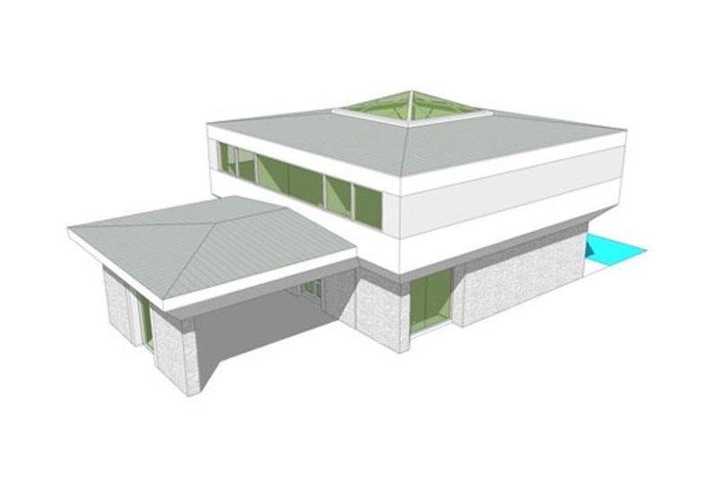 Modern Exterior - Other Elevation Plan #64-206 - Houseplans.com