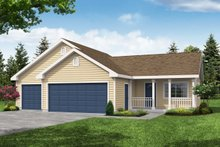 Home Plan - Traditional Exterior - Front Elevation Plan #124-656