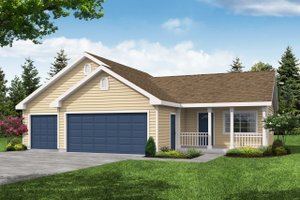 House Plan Design - Traditional Exterior - Front Elevation Plan #124-656