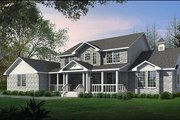 Country Style House Plan - 3 Beds 3 Baths 3355 Sq/Ft Plan #65-428 Exterior - Front Elevation