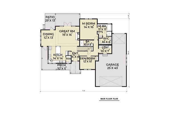 House Design - Contemporary Floor Plan - Main Floor Plan #1070-82