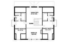 Craftsman Floor Plan - Upper Floor Plan Plan #117-873