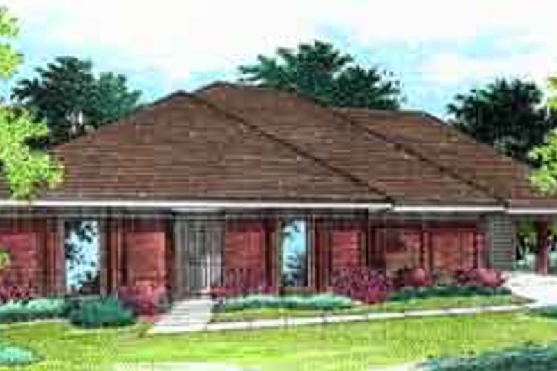 Southern Exterior - Front Elevation Plan #45-232