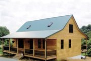Cabin Style House Plan - 3 Beds 2 Baths 1704 Sq/Ft Plan #456-17 Exterior - Front Elevation