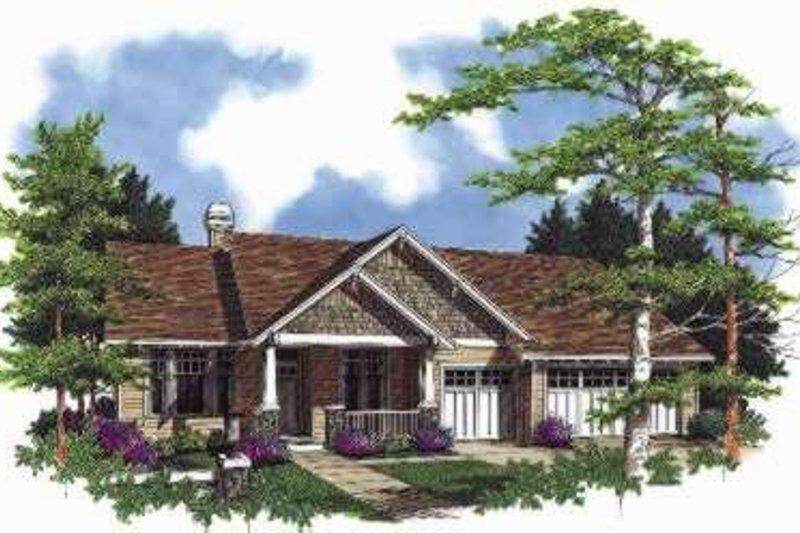Craftsman Exterior - Front Elevation Plan #48-167 - Houseplans.com