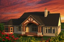 Architectural House Design - Ranch Exterior - Rear Elevation Plan #70-1203