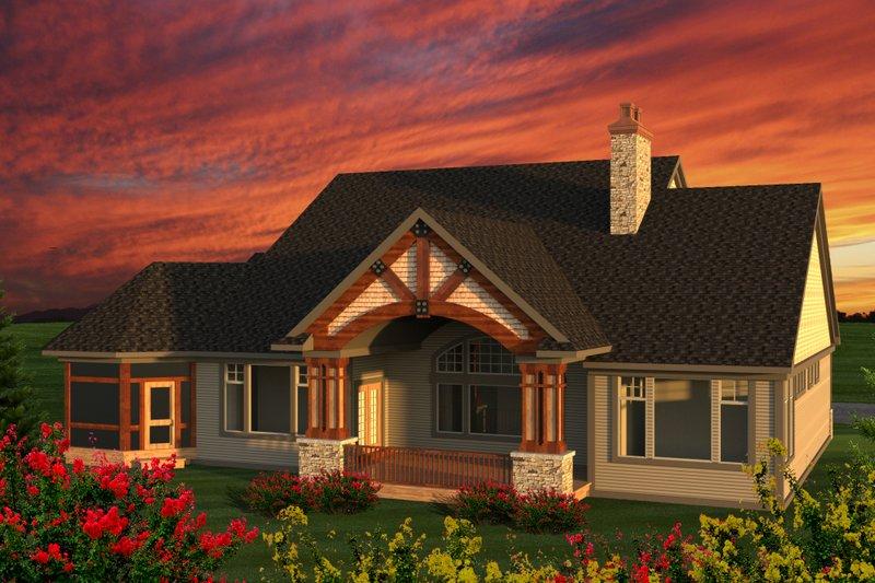 Ranch Exterior - Rear Elevation Plan #70-1203 - Houseplans.com
