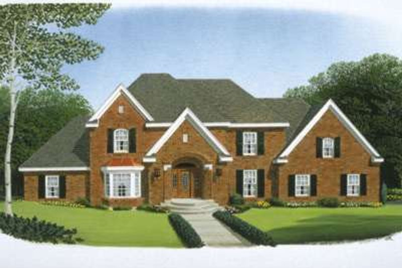 European Exterior - Front Elevation Plan #410-229