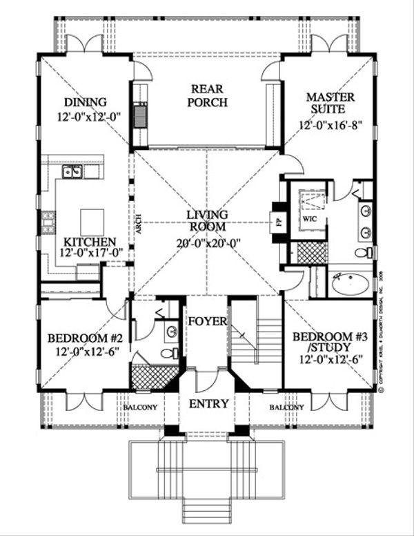 Country Floor Plan - Main Floor Plan Plan #426-17