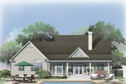 Country Style House Plan - 3 Beds 2 Baths 1617 Sq/Ft Plan #929-885 Exterior - Rear Elevation