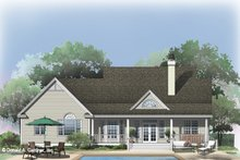 Home Plan - Country Exterior - Rear Elevation Plan #929-885