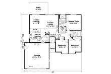 Traditional Floor Plan - Main Floor Plan Plan #124-871