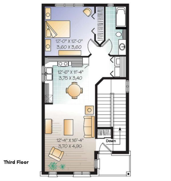 European Floor Plan - Other Floor Plan Plan #23-2152