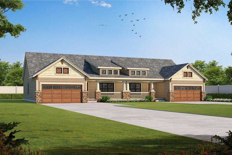 Dream House Plan - Bungalow Exterior - Front Elevation Plan #20-1342