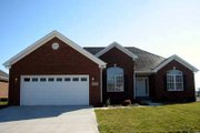European Style House Plan - 3 Beds 2 Baths 1630 Sq/Ft Plan #412-121 Exterior - Front Elevation