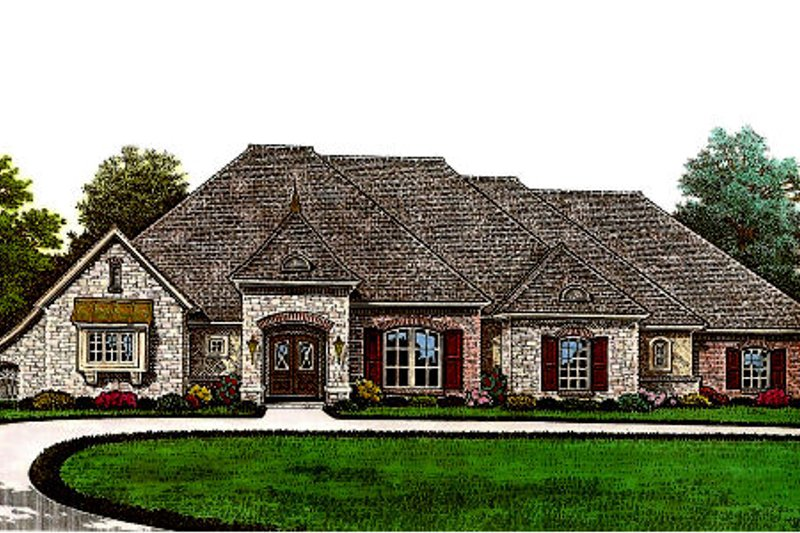 European Exterior - Front Elevation Plan #310-654