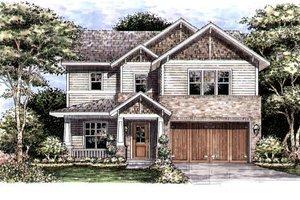 Craftsman Exterior - Front Elevation Plan #141-342