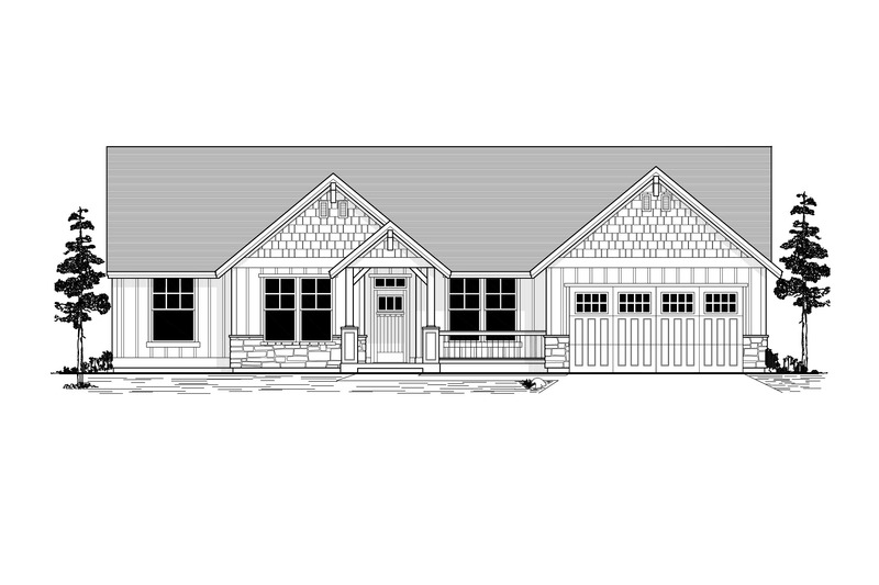 Craftsman Exterior - Front Elevation Plan #53-591