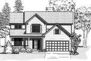 Traditional Style House Plan - 4 Beds 2.5 Baths 2673 Sq/Ft Plan #9-107 Exterior - Front Elevation