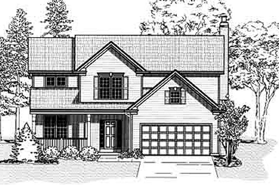 Traditional Exterior - Front Elevation Plan #9-107
