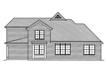 Home Plan - Traditional Exterior - Rear Elevation Plan #46-879