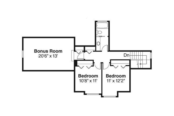 Craftsman Floor Plan - Upper Floor Plan Plan #124-772